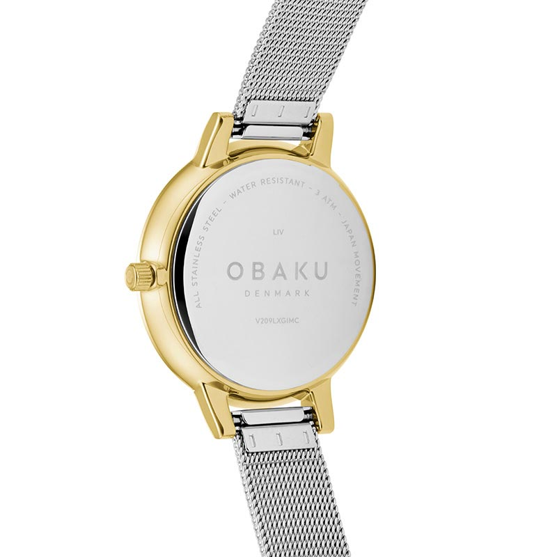 Obaku Women watch LIV - GOLD BI BACK view