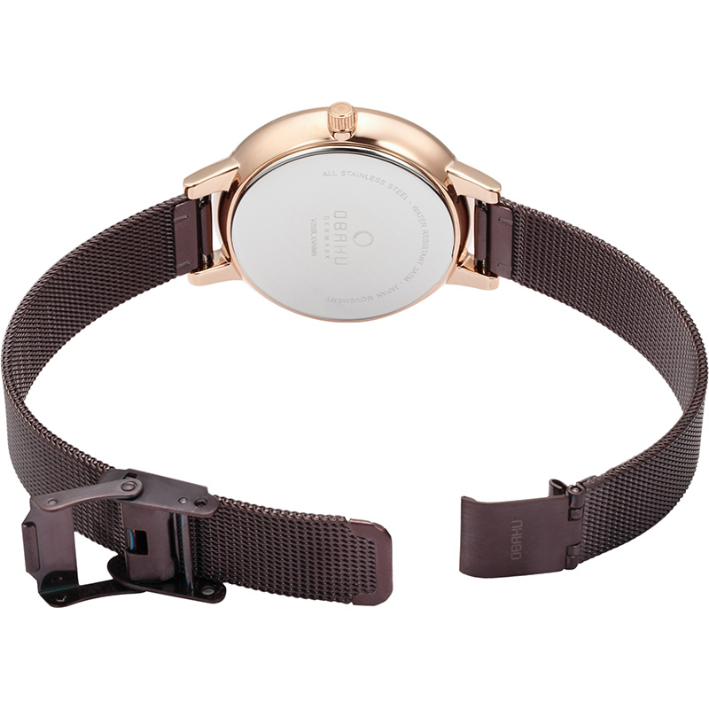 Obaku Women watch LIV - WALNUT OPEN view