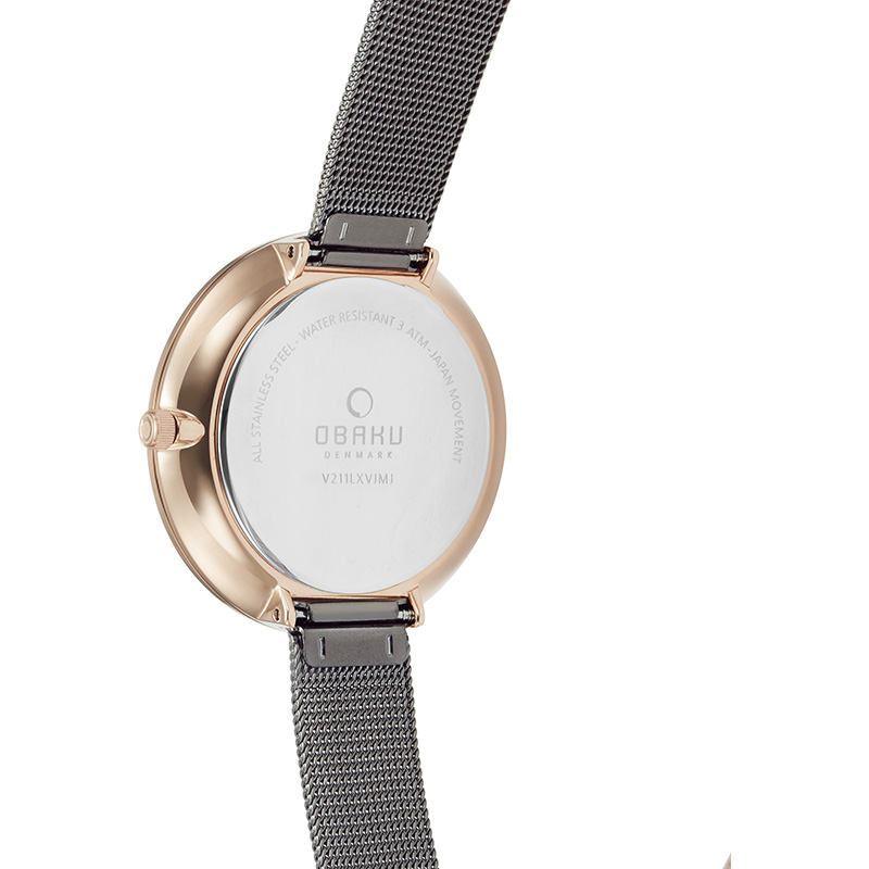 Obaku Women watch MYNTE - GRANITE BACK view