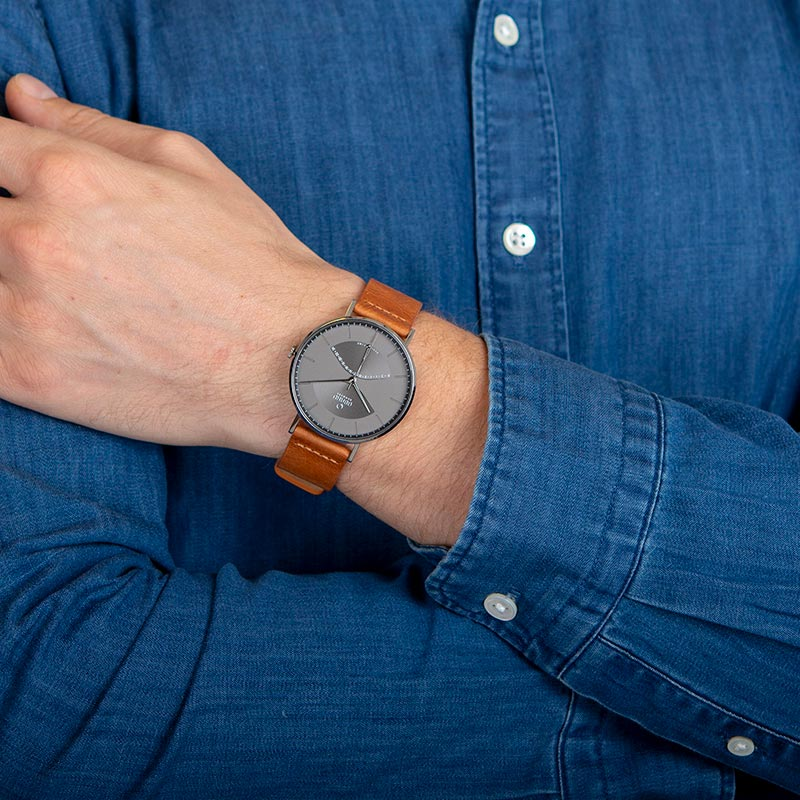 Obaku Men watch ELM - CAMEL WRIST view
