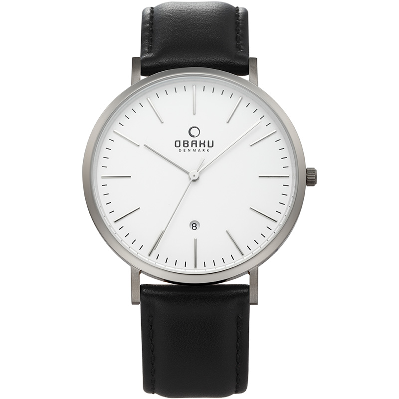 Obaku Men watch HAVRE - BLACKTITAN FRONT view