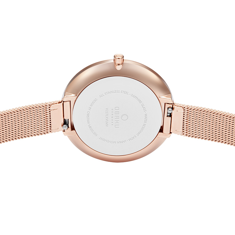 Obaku Women watch DOK - AZURE BACK view
