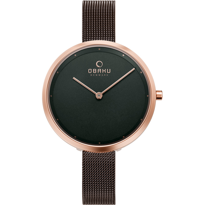 Obaku Women watch DOK - WALNUT FRONT view