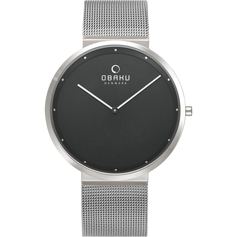 Obaku Men watch PAPIR - ONYX FRONT view