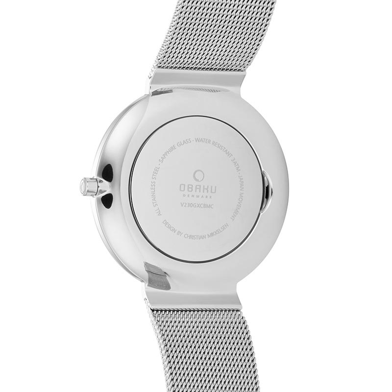 Obaku Men watch PAPIR - ONYX BACK view