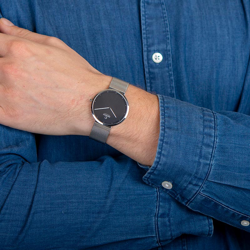 Obaku Men watch PAPIR - ONYX WRIST view