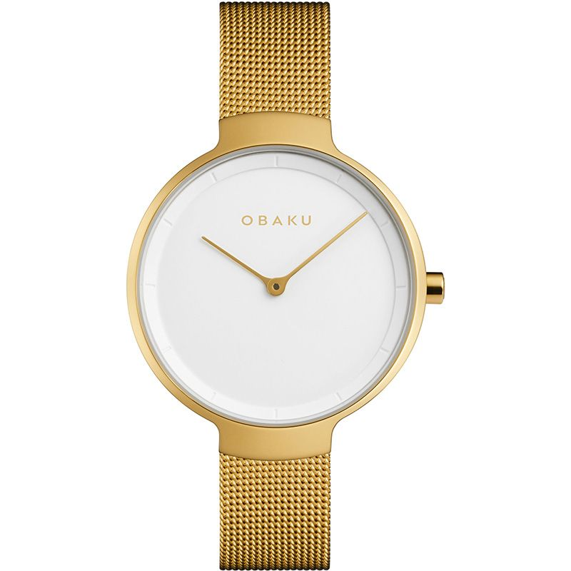 Obaku Women watch BIRK - GOLD FRONT view