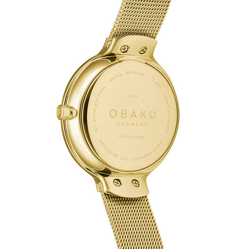 Obaku Women watch BIRK - GOLD BACK view