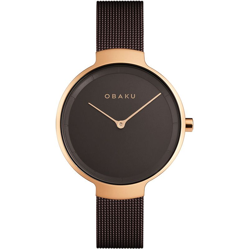 Obaku Women watch BIRK - WALNUT FRONT view