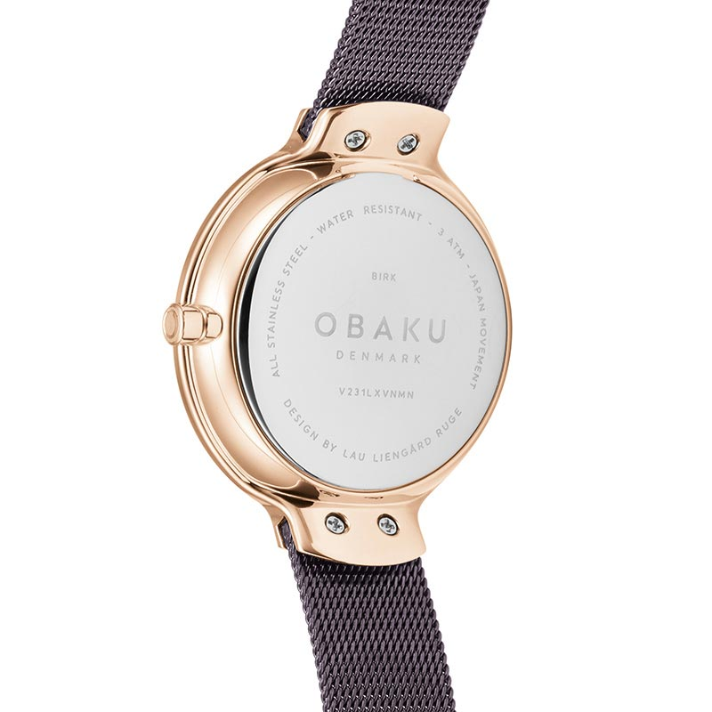 Obaku Women watch BIRK - WALNUT BACK view