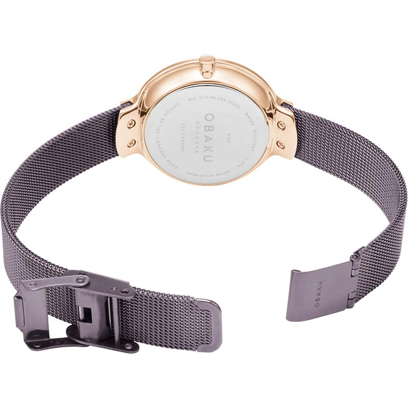 Obaku Women watch BIRK - WALNUT OPEN view