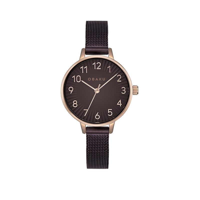Obaku Women watch SYREN - WALNUT FRONT view