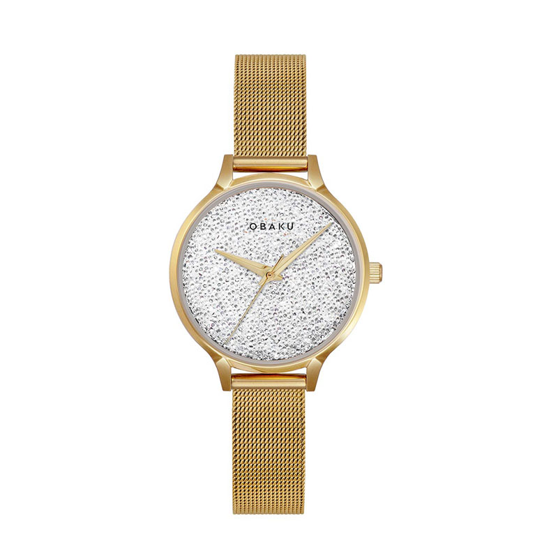 Obaku Women watch STJERNER - GOLD FRONT view